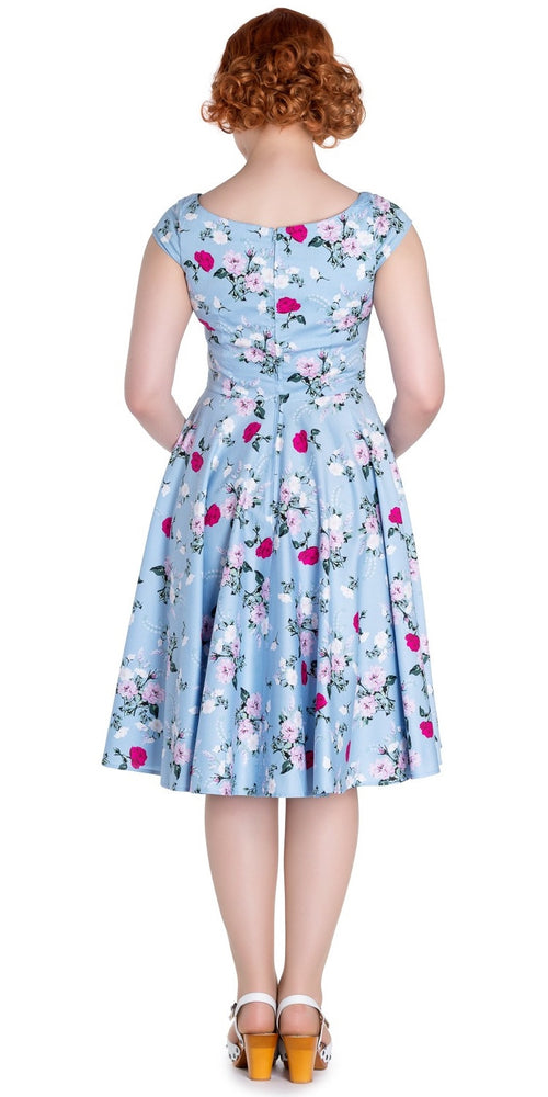 Belinda 50's Style Swing Dress (Blue)