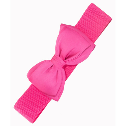 Bella Bow Belt- Hot Pink