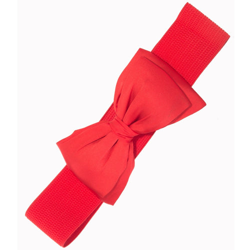 Bella Bow Belt - Red