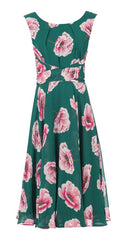 Bethany Teal Floral Dress