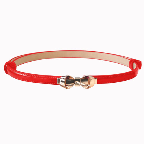Bitter Sweet Patent Belt - Red
