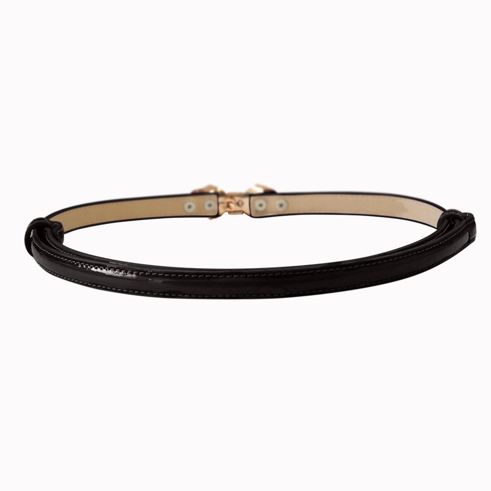 Bitter Sweet Patent Belt - Black