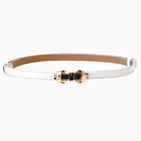 Bella Bow Belt - Off White