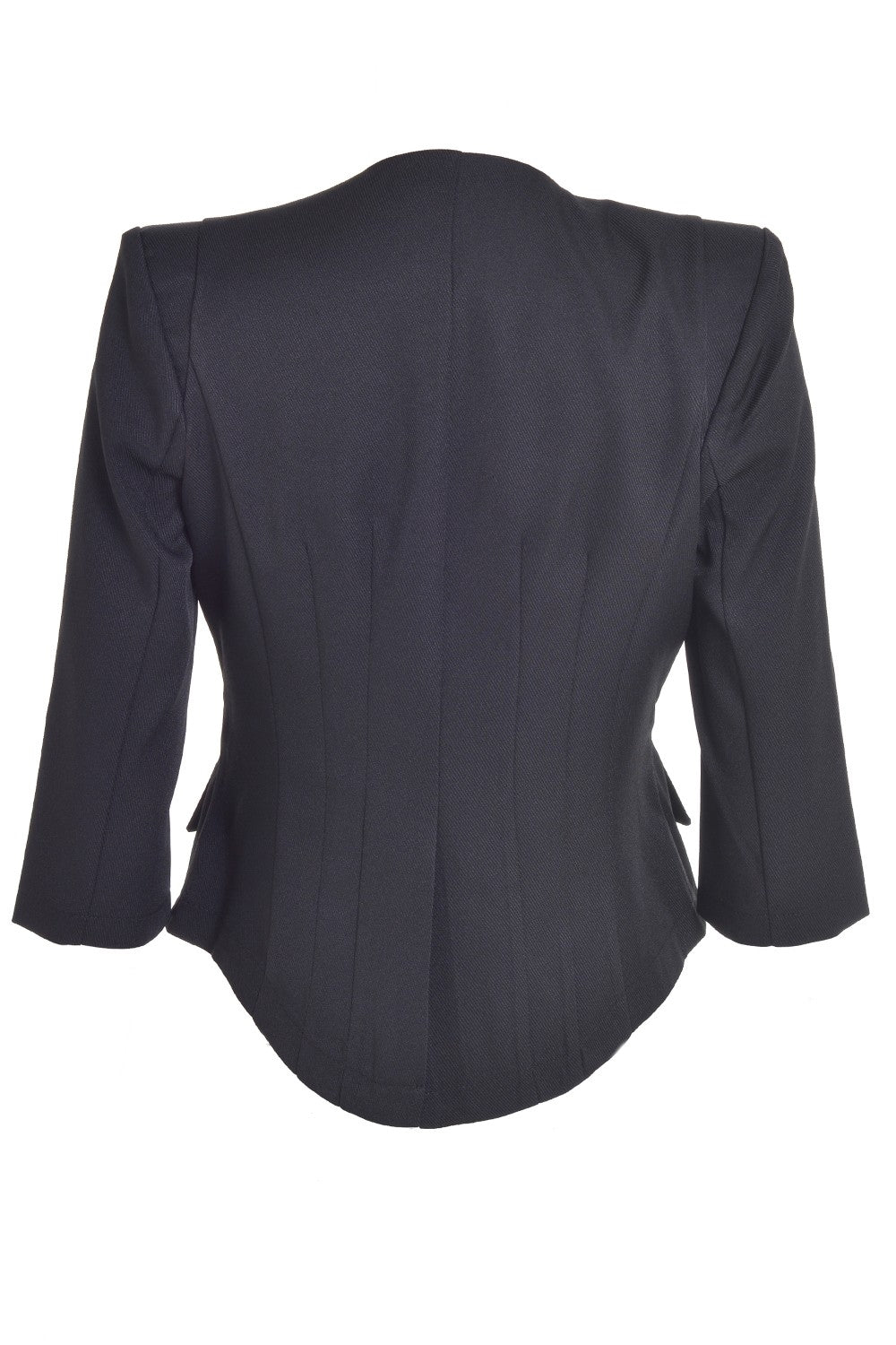 Tailored Cropped Blazer Black