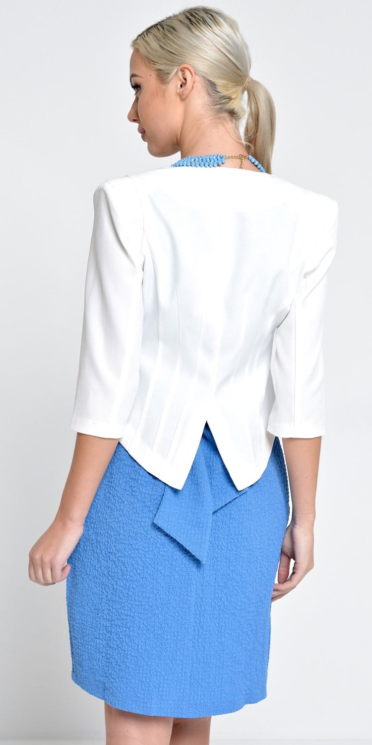 Tailored Cropped Blazer - Off White