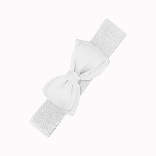Bella Bow Belt - Snow White