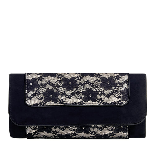 Ruby Shoo Charleston Bag (Black Lace)