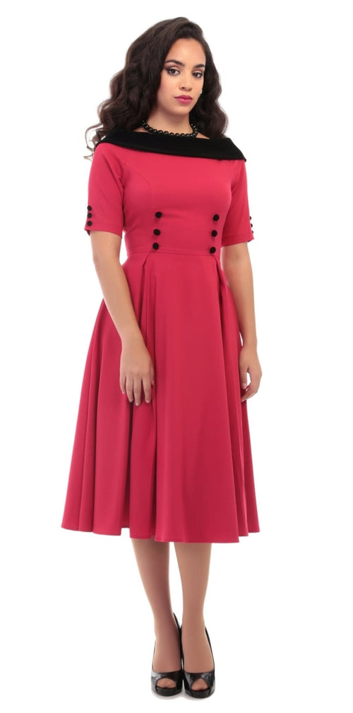 Carrera Swing Dress - Red