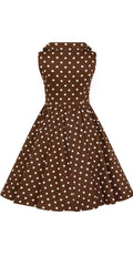 Kids Ravishing Chocolate Polka Dot Swing Dress