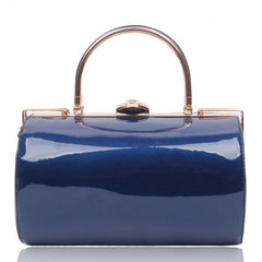 Cylinder Top Handle Bag - Oxford Blue