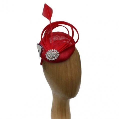 Dee Fascinator Red