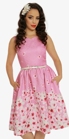 Goldie Rosey Pop Tea Dress