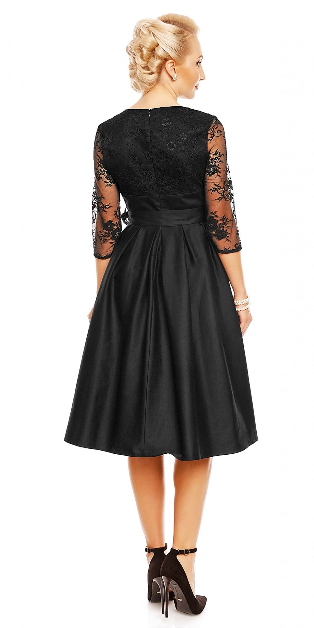 Diana Lace Bodice Swing Dress