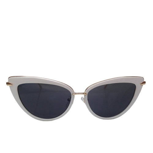 Dita Cat Eye Sunglasses - White/Gold
