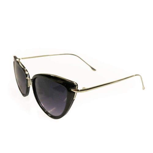 Dita Cat Eye Sunglasses -Black/Gold