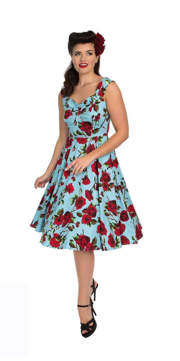 242d83535e89 Ditsy 50 s Rose Print Swing Dress – Rock Frocks