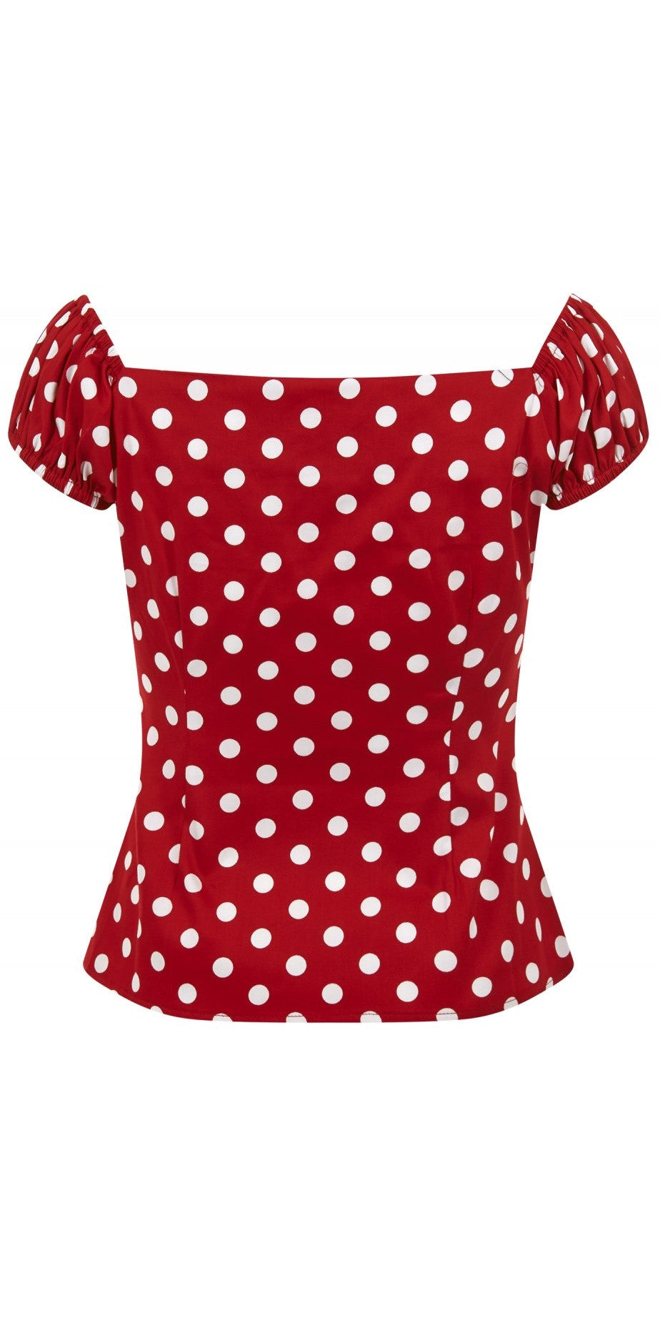 Dolores Top - Red & White Polka Dot