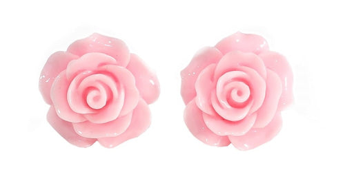 English Rose Stud Earrings - Pink
