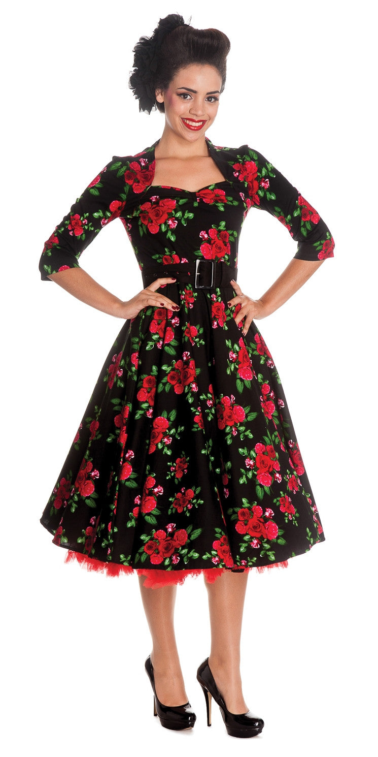 Eternity 50s Rose Print Dress