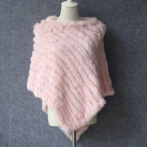 Blush Punk Poncho - Soft Faux Fur