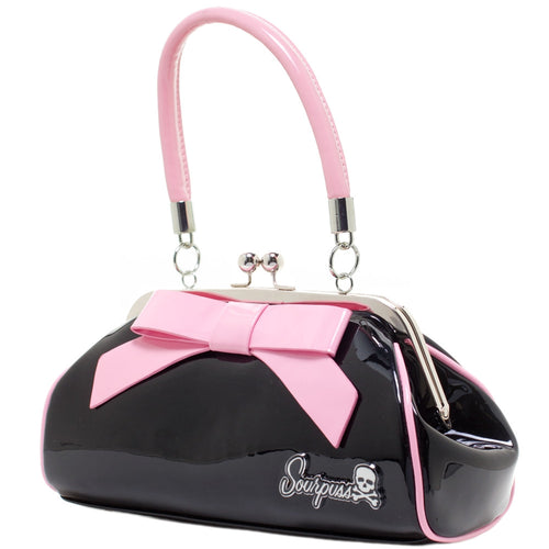Sourpuss Floozy Retro Purse (Black and Pink)