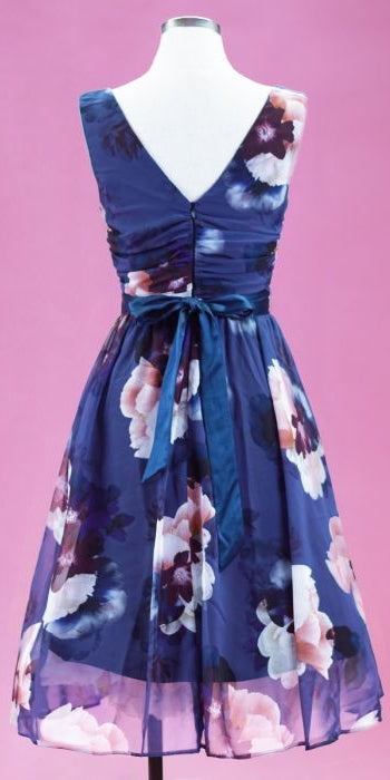 Francesca Blushing Blue Chiffon Dress