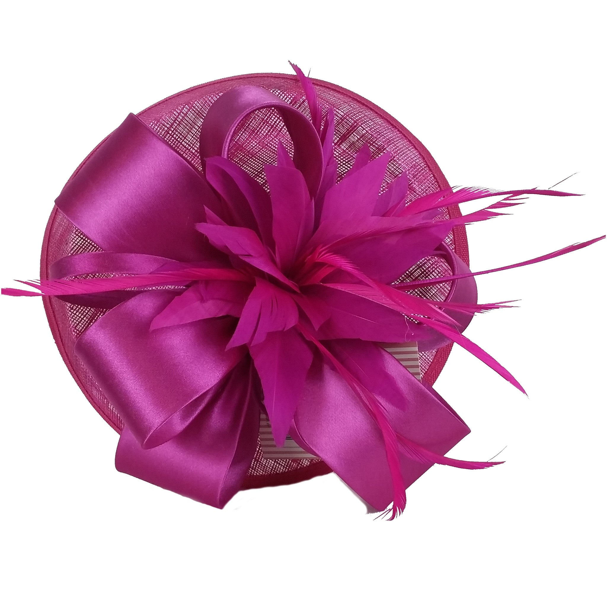 Fuchsia Fascinator - Large