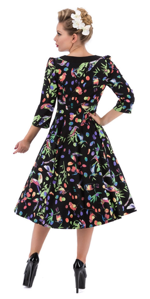 Garden Birds Swing Dress