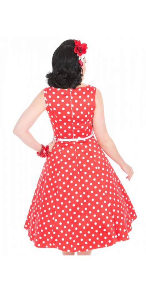 Hepburn Red & White Polka Dot