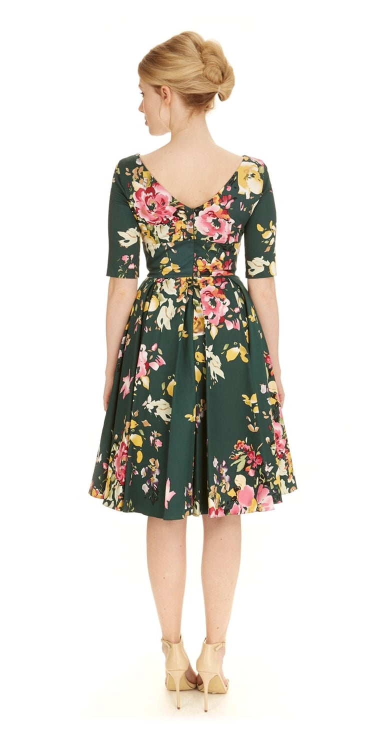 Hepburn Seville Forest Swing Dress