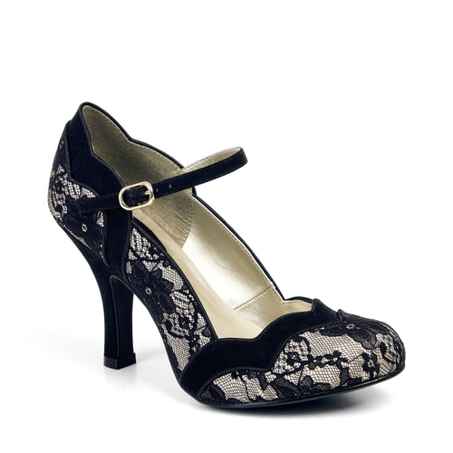 Ruby Shoo Imogen Lave (Black/Gold)