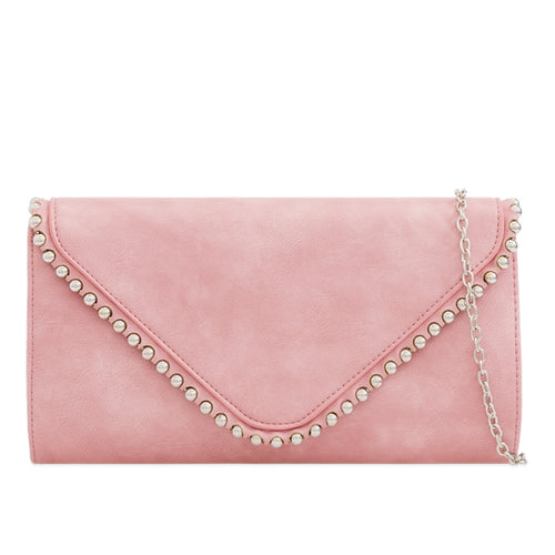 Jane Dusty Pink Clutch Bag