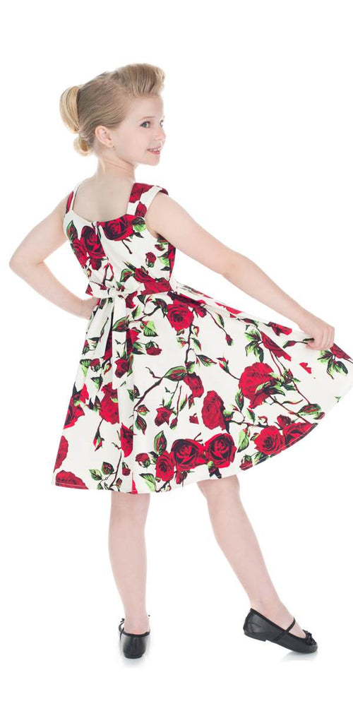 Kids 50's Ditsy Floral Swing Dress