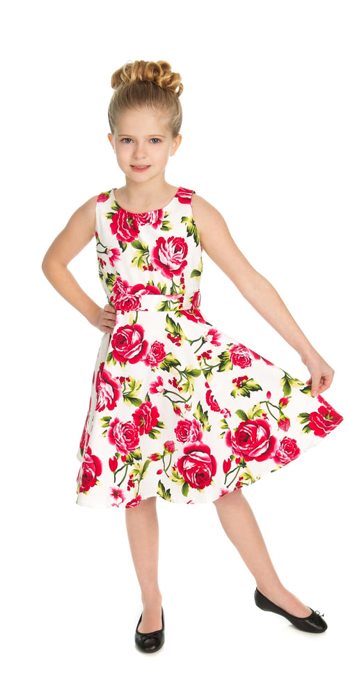 3b9d634be74a Kids Sweet Rose Swing Dress