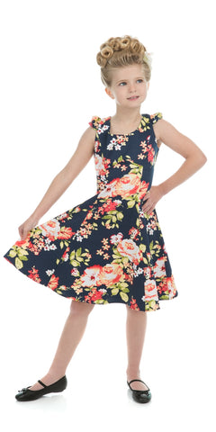 Kids Sweet Rose Swing Dress