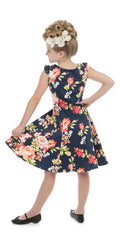 Kids Jennifer Floral Swing Dress