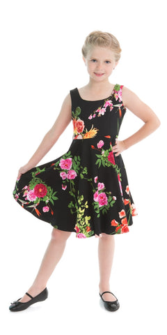 Luna Pink Floral Tea Dress