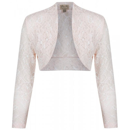 Lace Cover up Bolero - Peach
