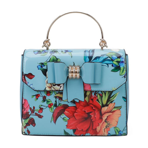 Laura Floral Handbag & Purse - Blue
