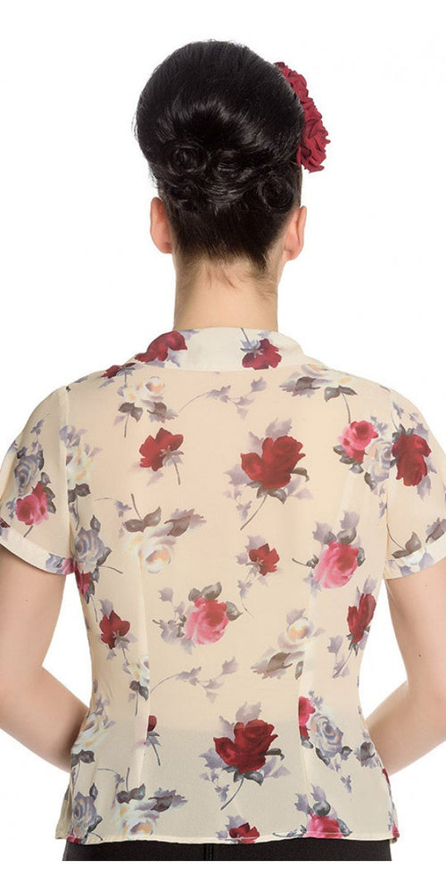 Leah Floral Summer Blouse