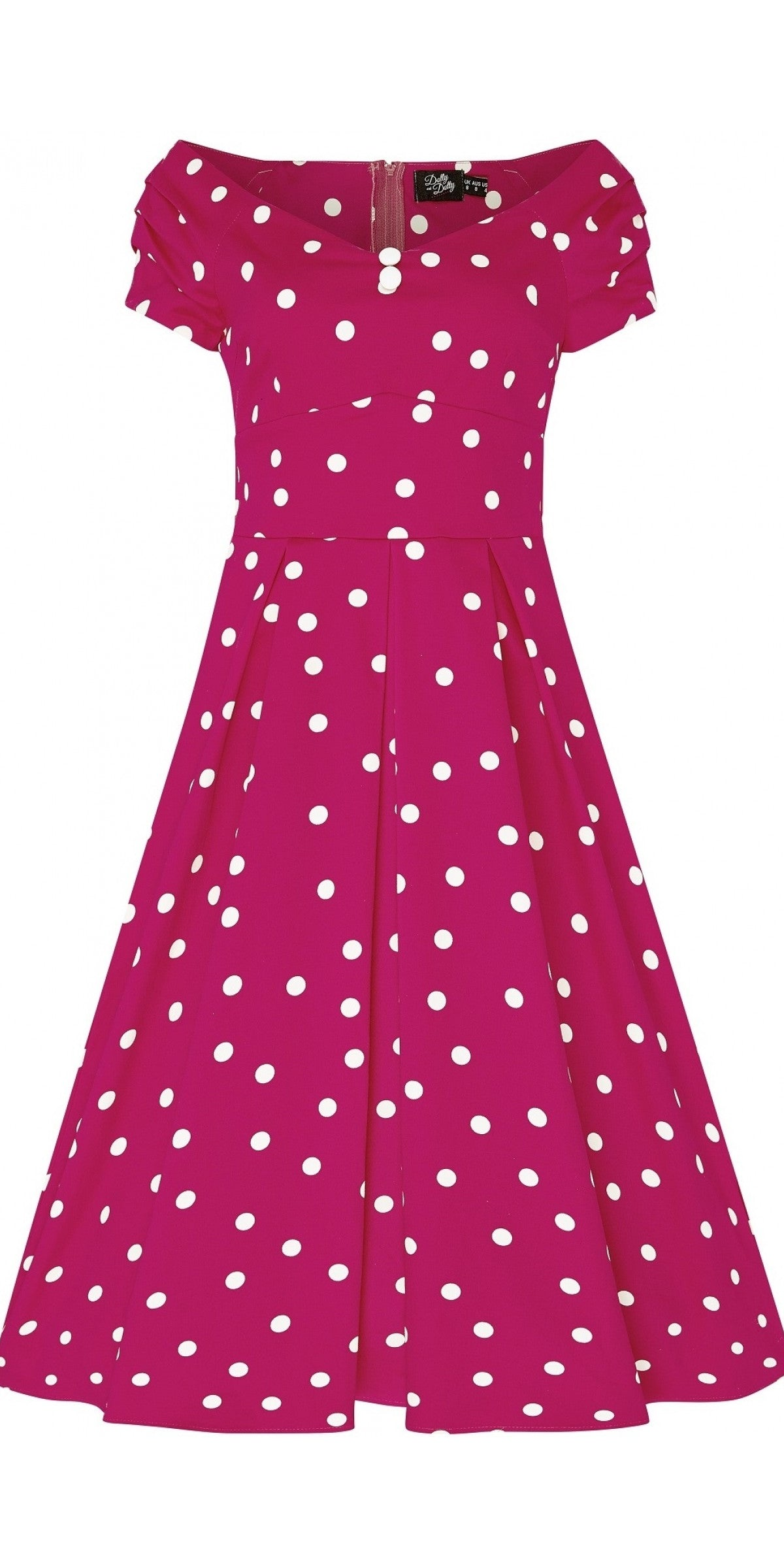 Lily Pink Polka Dot Swing Dress