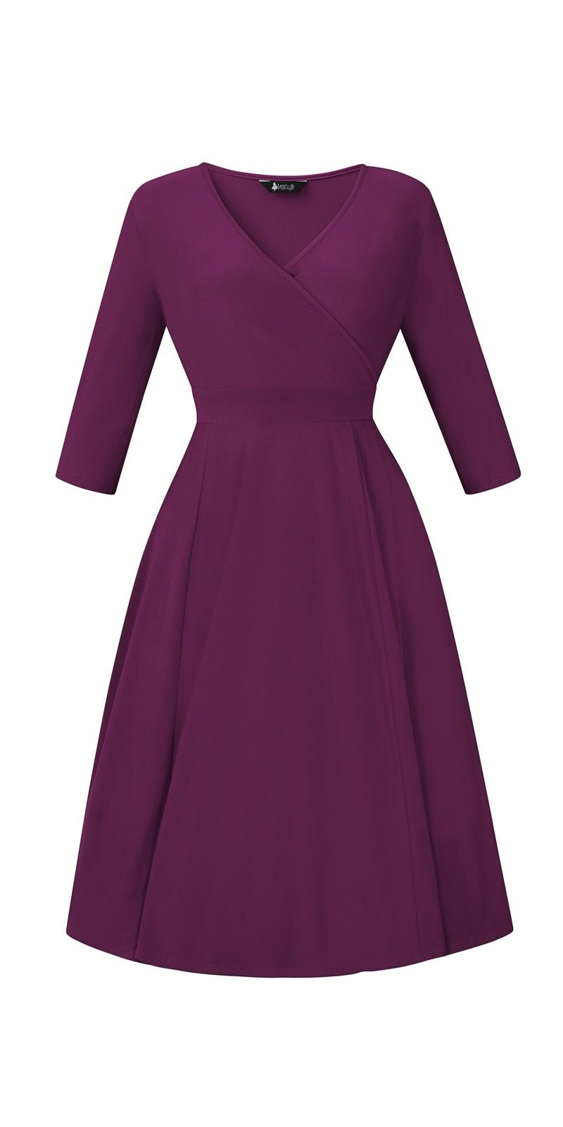 Lyra Violet Dress - Long Sleeves