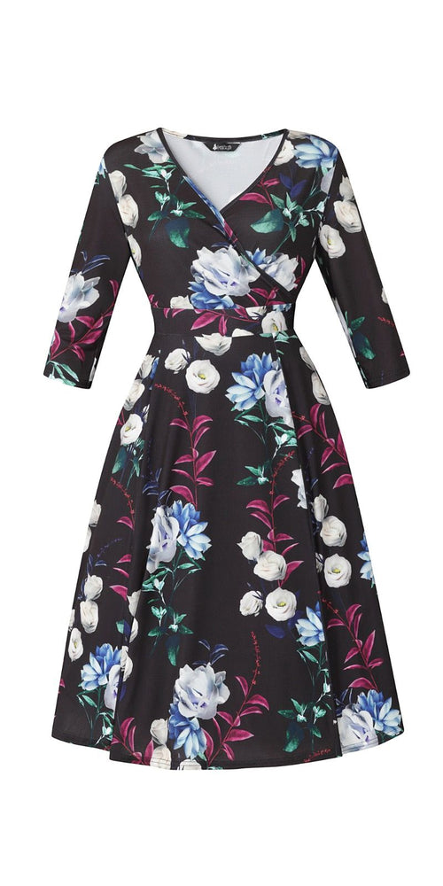 Lyra Winter Floral Dress