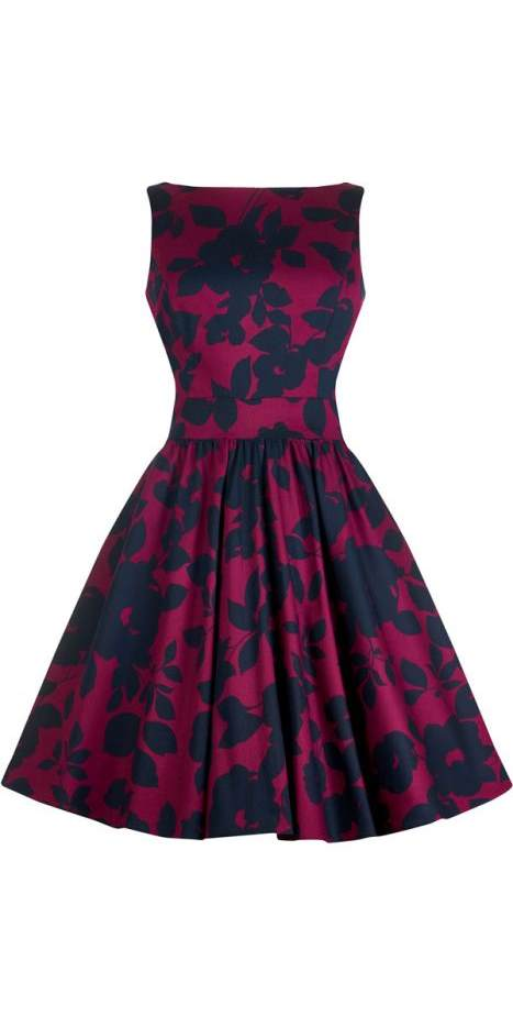 Magenta Shades Tea Dress