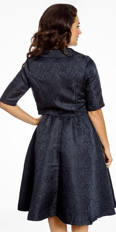 Marcella Navy Swing Dress and Jacket twin set