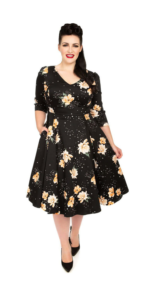 Midnight Stardust Swing Dress