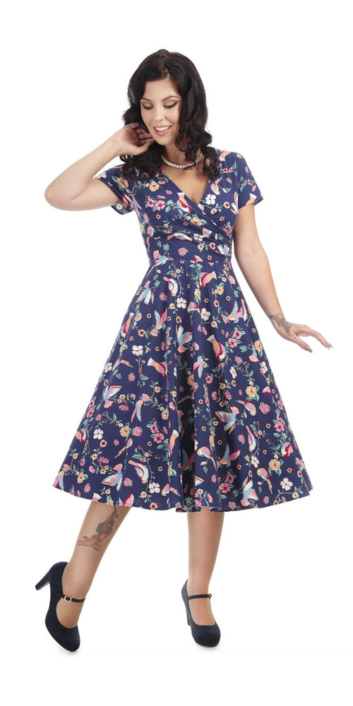 Maria Charming Bird Swing Dress