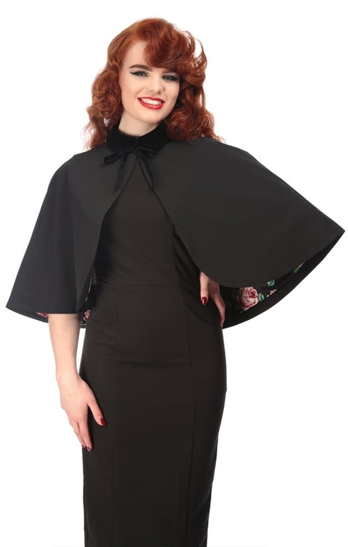 Mya Vintage Cape Black