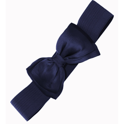 Bella Bow Belt - Navy