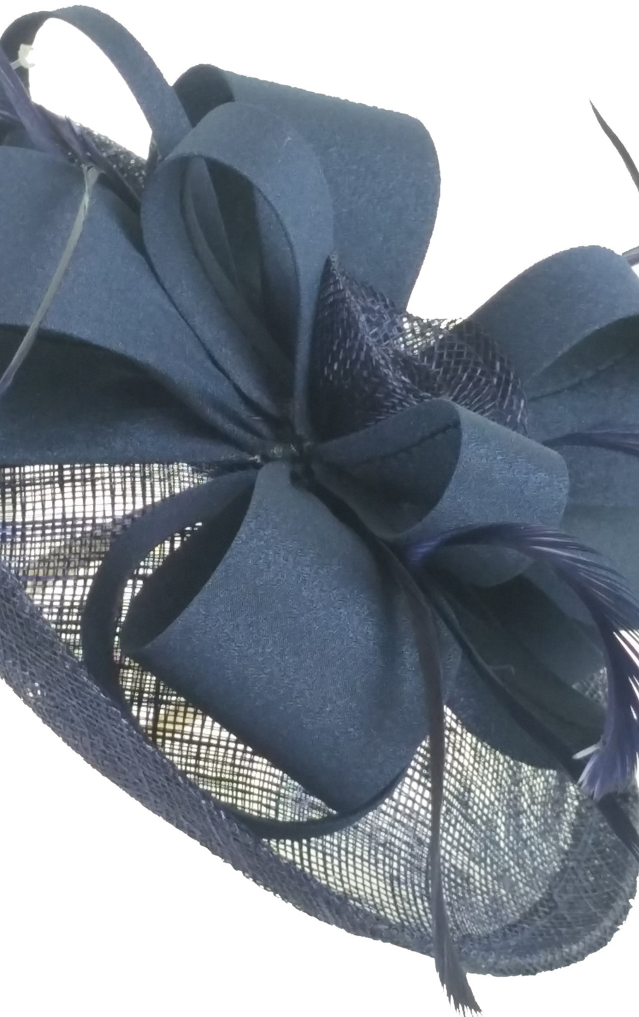 Navy Fascinator - Medium